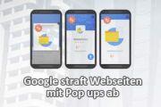 Pop-ups werden von Google bestraft