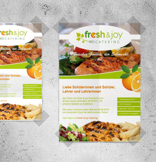fresh & joy Catering Plakat