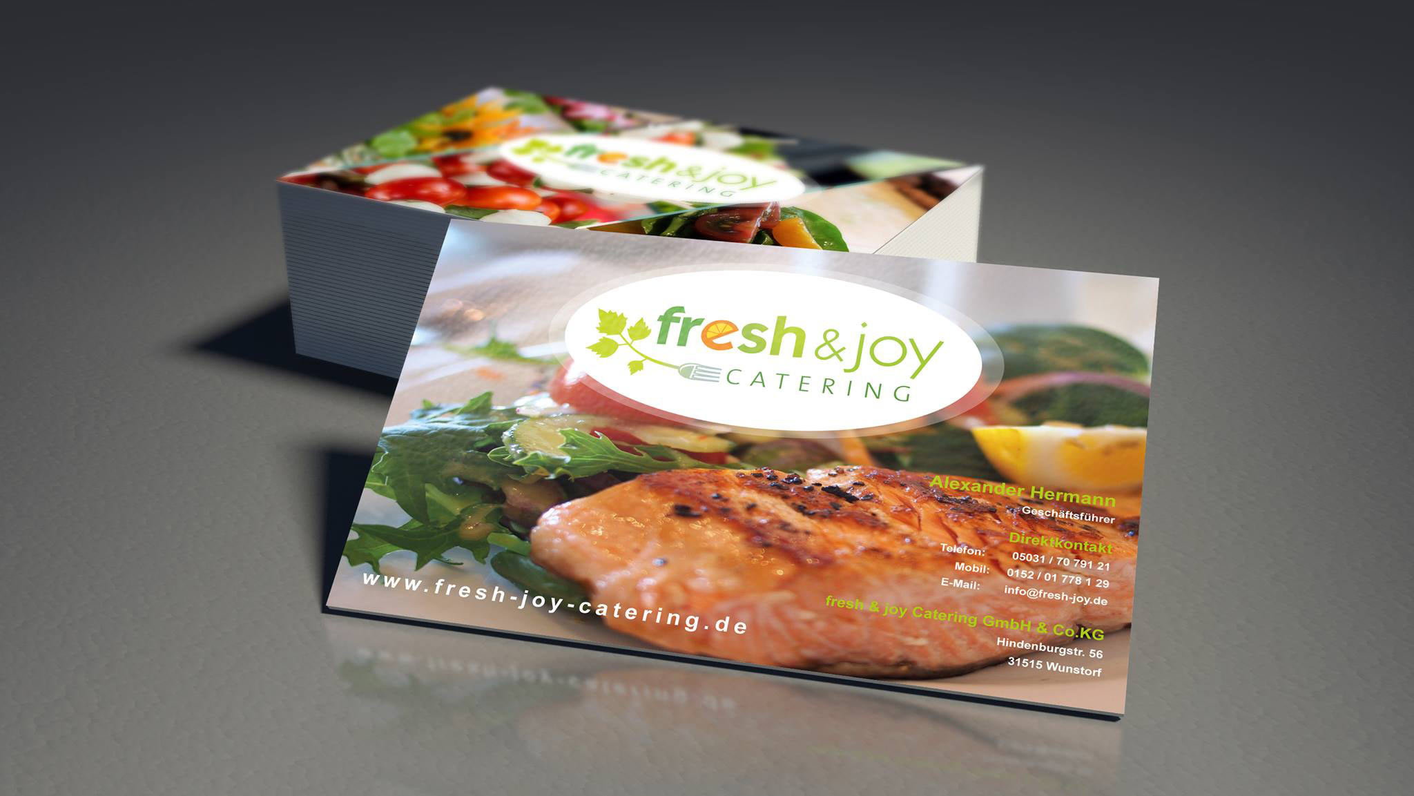 fresh & joy Catering Visitenkarten